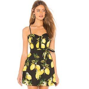 L'Acedemie -Revolve- Lemon Print Harlow Dress.